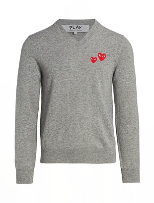 Comme des Garcons Double Heart Wool Pullover