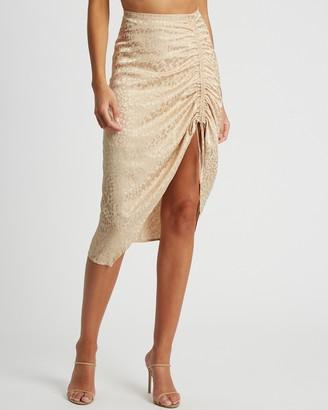 BWLDR - Women's Neutrals Midi Skirts - Margot Skirt - Size 6 at The Iconic