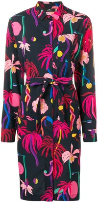 Paul Smith Floral Belted Shirt Dress