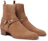 Saint Laurent - Suede Harness Boots