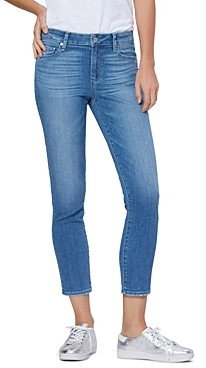 Paige Verdugo Cropped Skinny Jeans in Spritz Distressed