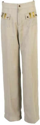 Relax Baby Be Cool Straight Cut Loose Wool Trousers With Front Pockets Grey