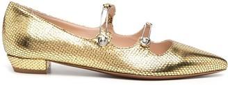 ALEXACHUNG Pin-Buckle Ballerina Flats