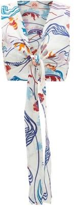 Le Sirenuse Positano Le Sirenuse, Positano - Sonia Magic Flower-print Cotton Crop Top - Cream Print