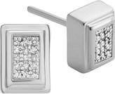 Monica Vinader Baja Deco Sterling Silver and Diamond Earrings