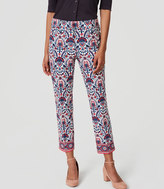 LOFT Floral Mosaic Riviera Pants in Julie Fit