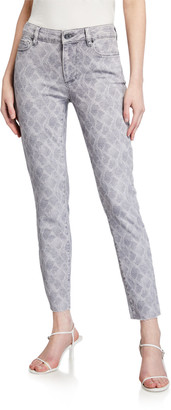 Paige Verdugo Snake-Print Skinny Jeans
