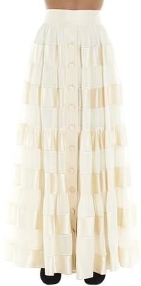Zimmermann Sabotage Ribbon Stripe Maxi Skirt