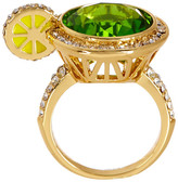 Ariella Collection Lime Crystal Cocktail Ring - Size 7