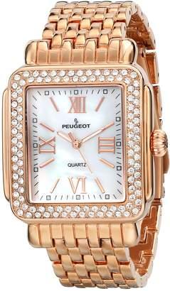 Peugeot Women's 7080RG Panther Link Rose Gold Bracelet Watch