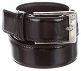Gucci Patent Leather Silver-Tone Belt