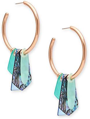 Kendra Scott Gaby Stone-Dangle Hoop Earrings