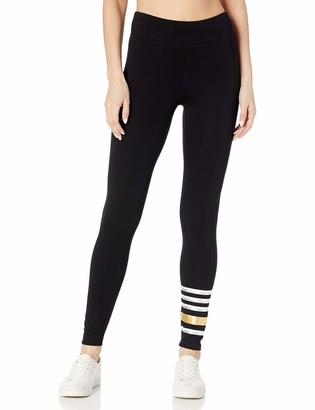 Andrew Marc Women's Fleece Lined Graphic Legging