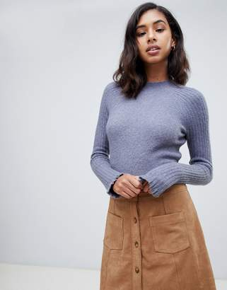 Abercrombie & Fitch polo neck knit-Blue
