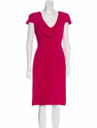 Alexander McQueen Silk Knee-Length Dress Pink