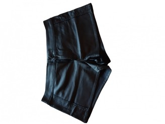 Non Signã© / Unsigned Black Leather Shorts