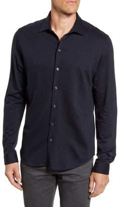 Robert Barakett Colborne Regular Fit Button-Up Knit Shirt