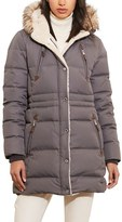 Lauren Ralph Lauren Women's Faux Fur Trim Down & Feather Fill Parka