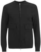 Helmut Lang Collarless Padded Jersey Bomber Jacket Black
