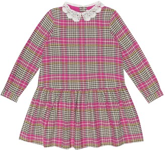 Bonpoint Marielle checked cotton dress