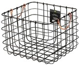 Threshold Small Milk Crate Wire Basket - Antique Pewter with Copper Colored Handles