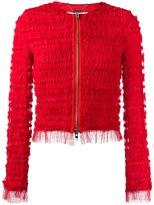 Givenchy ruffle embellished jacket - women - Silk/Polyamide/Polyester/Spandex/Elastane - 38