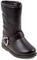 Laura Ashley Toddler Girls' Heart Buckle Riding Boots