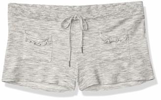 Felina Women's Terry Ribs and Ruffles Short