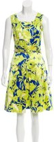 Oscar de la Renta Printed Sleeveless Dress