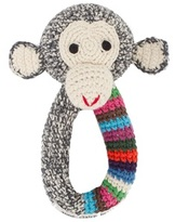 Anne Claire Crochet chimp rattle ring