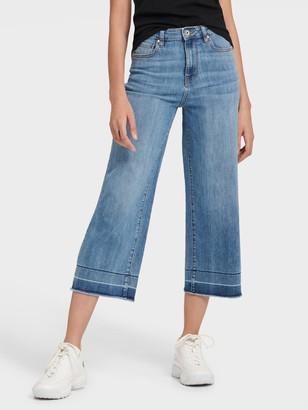 DKNY Women's Cropped Wide-leg Jean - Indigo - Size 24