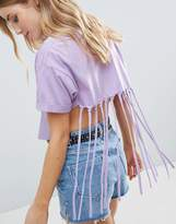 Asos Crop Top With Shredded Back