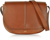 A.P.C. Nelly Marron Leather Shoulder Bag