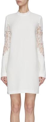 Dion Lee Lace panel mini dress