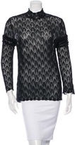 Kenzo Long Sleeve Crocheted Top