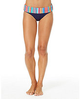 Anne Cole Triangle Stripe Mid-Rise Brief