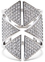Sole Society Cutout Crystal Statement Ring
