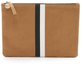 Clare Vivier Margo Flat Clutch With Black And White Stripes