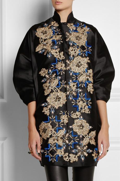 Biyan Hyuana embellished shantung coat