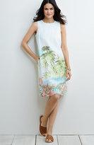 J. Jill Scenic-Print Linen Dress