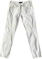Diesel Black Gold White Cotton - elasthane Jeans for Women