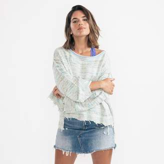 Free People Prism Space Dye Aqua Combo Jumper - X-Small