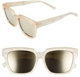 Le Specs Women's 'Edition Two' 55Mm Sunglasses - Matte Blush/ Pearl Tan/ Gold