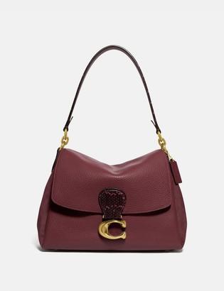 Coach May Shoulder Bag With Snakeskin Detail