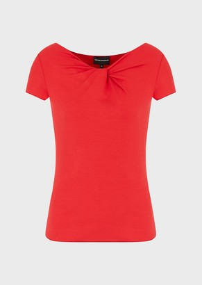 Emporio Armani Knotted, Stretch Jersey Sweater