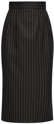 Dolce & Gabbana Pinstriped Wool-blend Pencil Skirt - Womens - Grey Multi