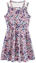 Epic Threads Lace-Back Floral-Print Skater Dress, Big Girls (7-16), Only at Macy's
