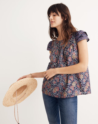 Madewell Story Top in Fan Floral Mix