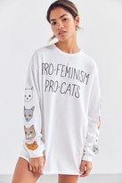 Junk Food Clothing Pro-Cat Pro-Feminism Long Sleeve Tee