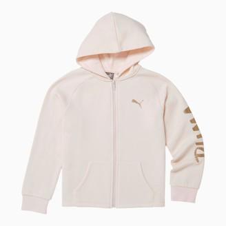 Puma Tag Girls' Fleece Zip Up Hoodie JR
